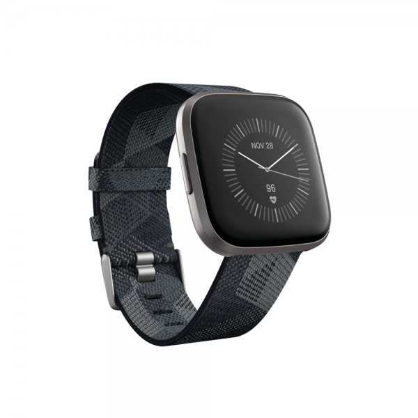 Versa 2 Special Edition Smoke Woven Band/Mist Grey Aluminum Case