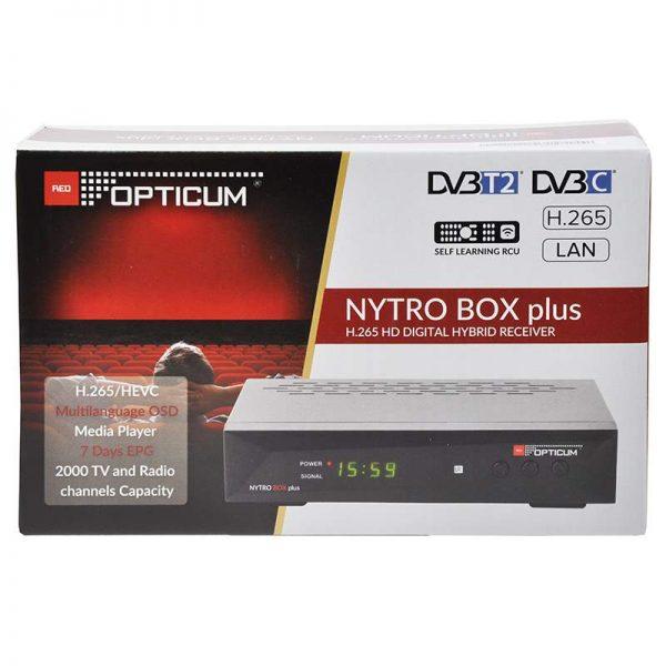 DVB-T2 Receiver - Nytro Box Plus - pakiranje