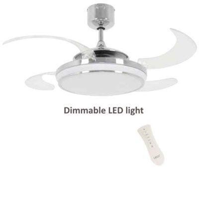 Ventilator FANAWAY EVO1 LED - 211037 - Chrome sjaj